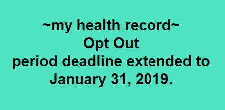 My health record extension date